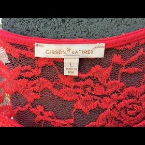 Gibson Latimer corral lace dress, size L